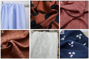 Blouse Annabel - Anna Rose patterns - Choix des tissus