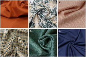 Manteau Annagram - Anna Rose patterns - Choix des tissus