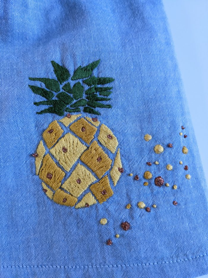 Ananas et bulles - Broderie - Anna Rose patterns