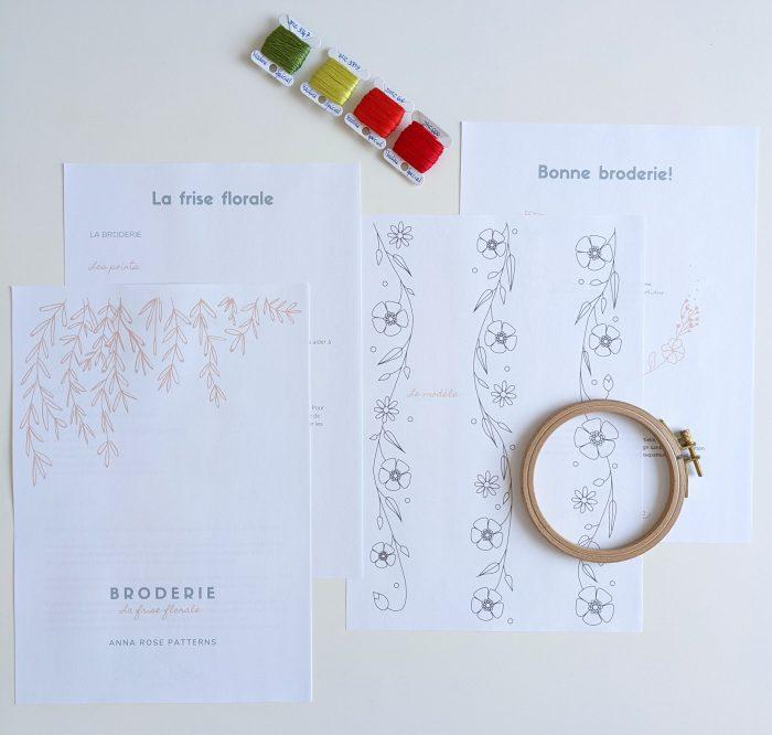 La frise Florale - Broderie - Anna Rose patterns